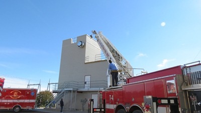 Truck 4 ladders the new training tower