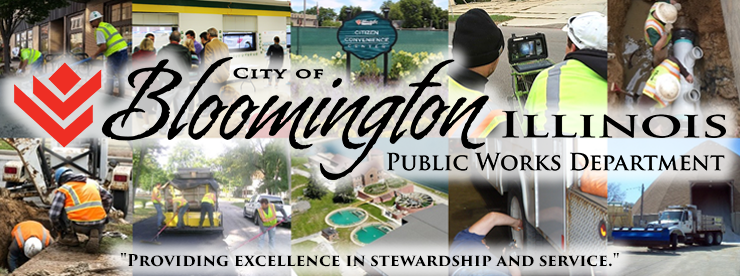 Public Works Department City Of Bloomington Illinois
